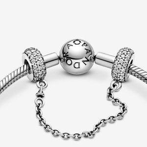 📿Sparkling Pavé Safety Chain Charm